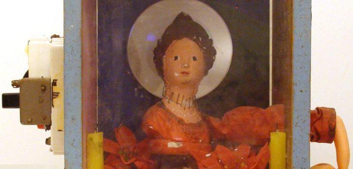 La Virgen corrigiendo al niño jesus delante tres testigos,Homenaje a Max Ernst